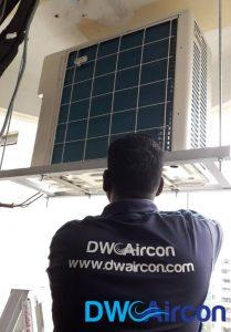 frozen-condenser-unit-aircon-not-cold-aircon-servicing-singapore