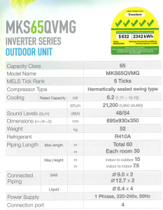 Daikin-Mks65qvmg-ctks25qvm-features-5-tick-system-2-aircon-installation-singapore