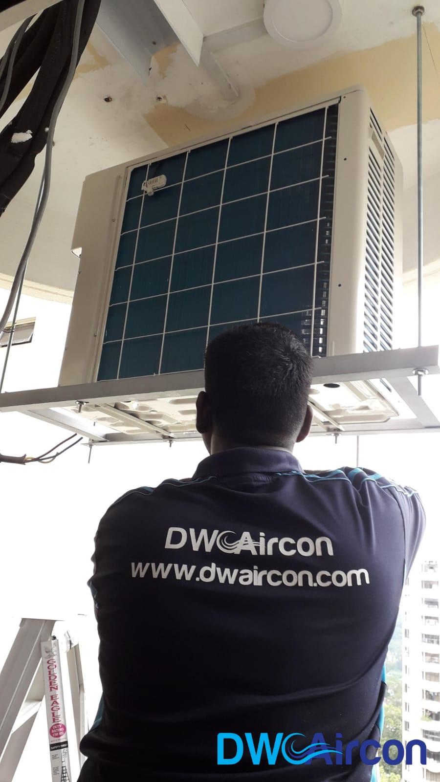 Condenser Aircon Installation DW Aircon Servicing Singapore Condo Cashew Road 1