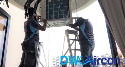 Condenser Aircon Installation DW Aircon Servicing Singapore Condo Cashew Road
