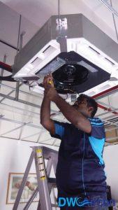 Cassette Aircon Installation DW Aircon Servicing Singapore Commercial Bukit Merah