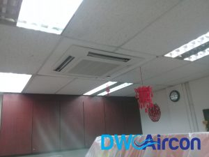 ceiling cassette aircon installation dw aircon servicing singapore commercial pasir panjang
