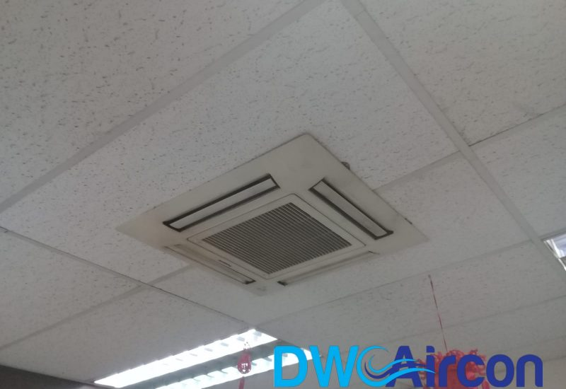 ceiling-cassette-aircon-installation-dw-aircon-servicing-singapore-commercial-pasir-panjang-9