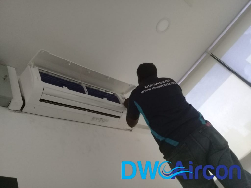 Fan Coil Replacement Aircon Repair DW Aircon Servicing Singapore Commercial Building Woodlands