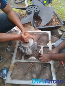 fan motor replacement aircon repair dw aircon servicing singapore commercial building woodlands 2
