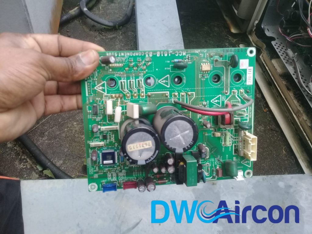PCB Replacement Aircon Repair DW Aircon Servicing Singapore Commercial Building Woodlands