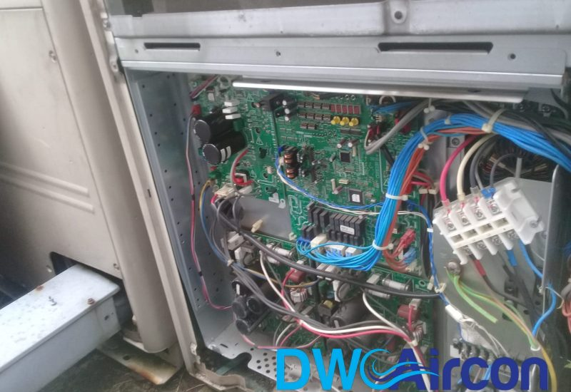 Water Pump Replacement Aircon Repair DW Aircon Servicing Singapore Commercial Building Woodlands