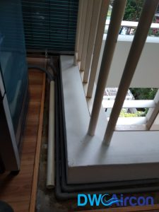 Aircon leak repair water tray installation dw aircon servicing singapore condo river valley 1
