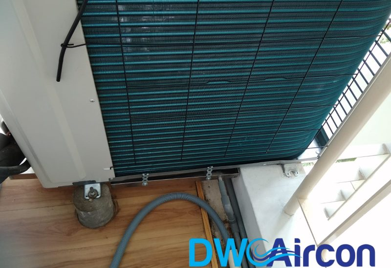 Aircon leak repair water tray installation dw aircon servicing singapore condo river valley 2