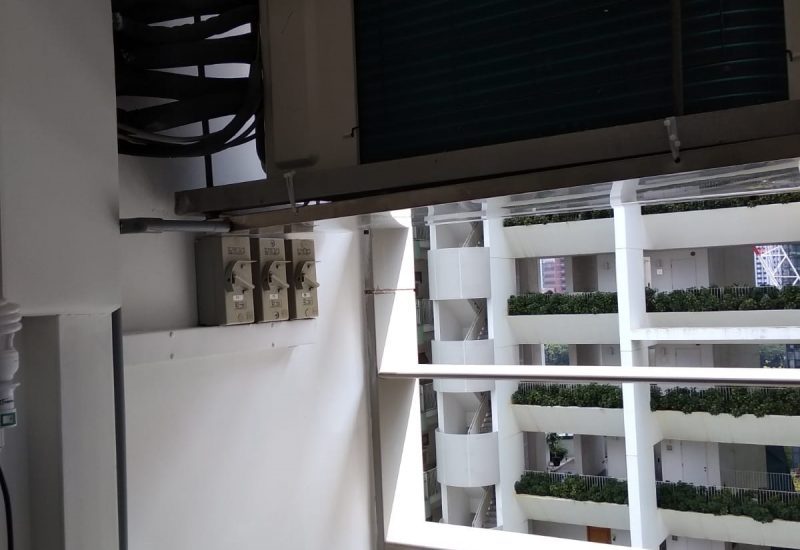 Aircon leak repair water tray installation dw aircon servicing singapore condo river valley 3