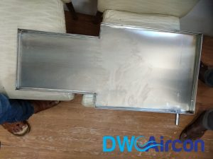 Aircon leak repair water tray installation dw aircon servicing singapore condo river valley