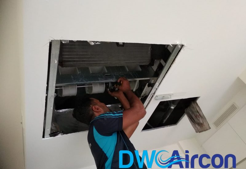 aircon chemical overhaul dw aircon servicing singapore condo novena 5