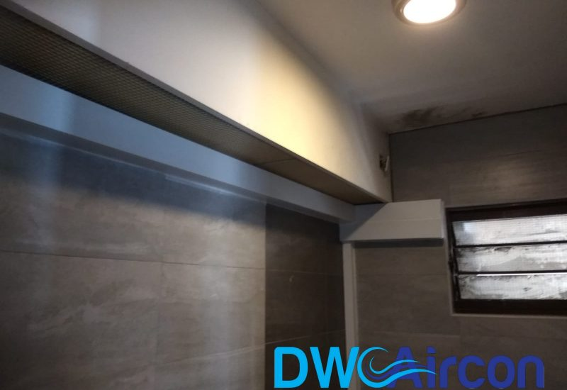 aircon trunking piping wiring replacement dw aircon servicing singapore hdb tiong bahru