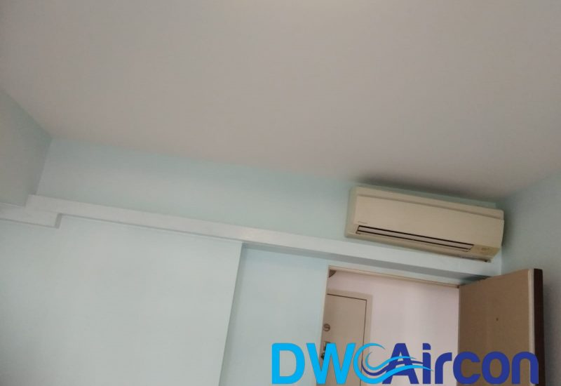 aircon trunking piping wiring replacement dw aircon servicing singapore hdb tiong bahru 3