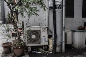 choked-up-aircon-condenser-outdoor-unit-aircon-servicing-singapore