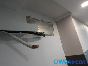 clogged-drain-line-aircon-leaking-water-aircon-servicing-singapore