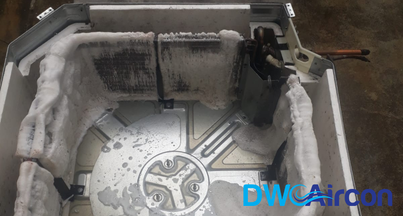 ceiling-cassette-unit-undergoing-aircon-chemical-wash-dw-aircon-singapore_featured