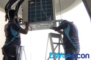 replace-aircon-condenser-pump-aircon-leaking-water-aircon-servicing-singapore