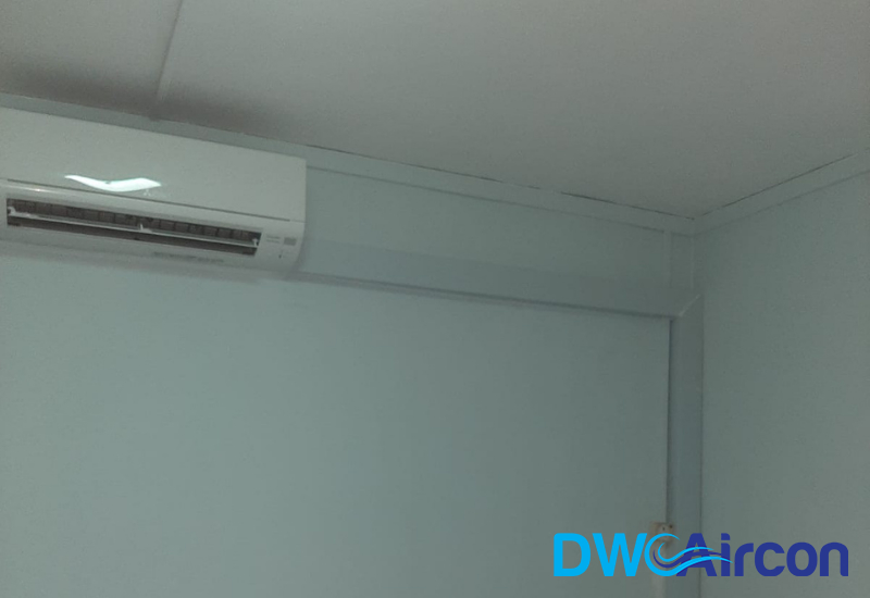 aircon-system-replacement-gas-copper-pipe-replacement-and-condenser-bracket-insulation-aircon-singapore-HDB-Woodlands