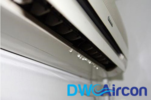 leaking-aircon-unit-diy-aircon-servicing-dw-aircon-servicing-singapore