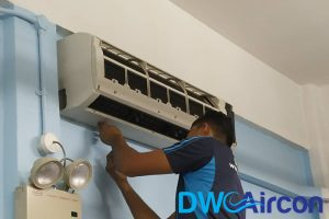 open-unit-undergoing-aircon-servicing-dw-aircon-servicing-singapore